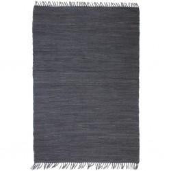 vidaXL Estructura de cama de cuero sintético negro 140x200 cm