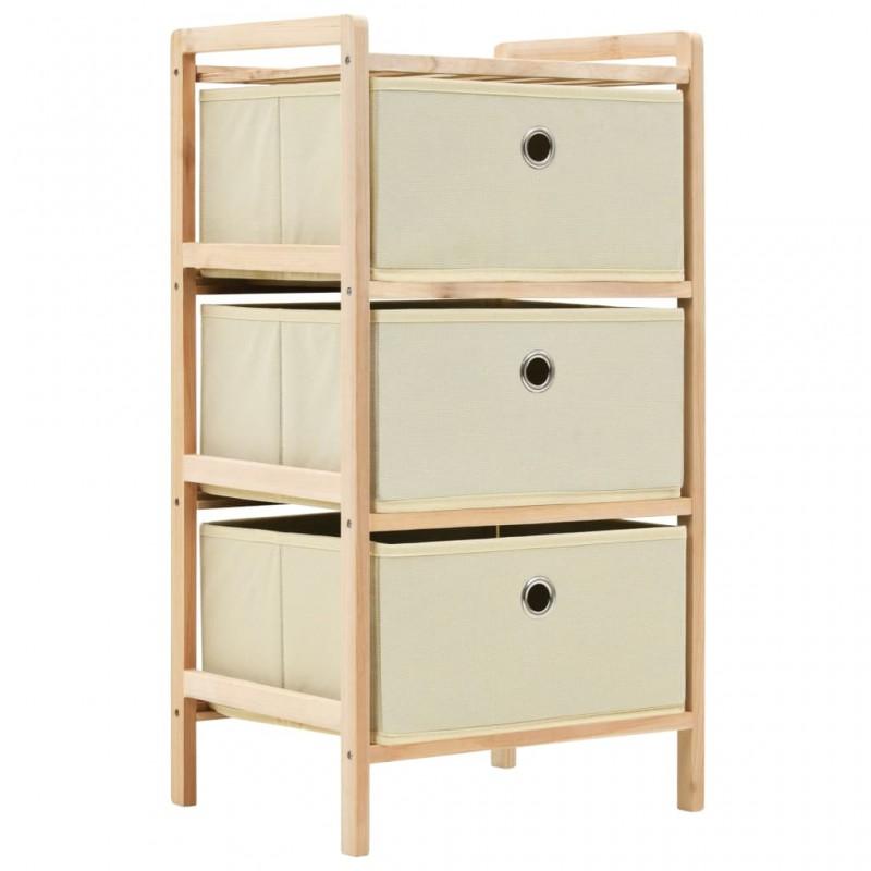 vidaXL Puf tejido a mano 50x35 cm algodón gris
