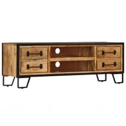 vidaXL Espejo de pared de cuero artificial plateado brillante 80 cm