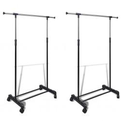 vidaXL Conectores de alfombras goma negros 10 unidades