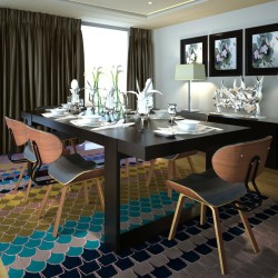 vidaXL Portavelas colgante bambú negro 60 cm