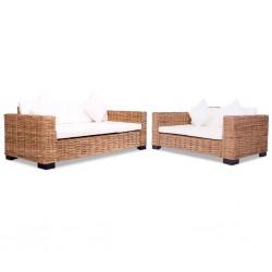 vidaXL Espejo Mimbre Blanco 40x60 cm