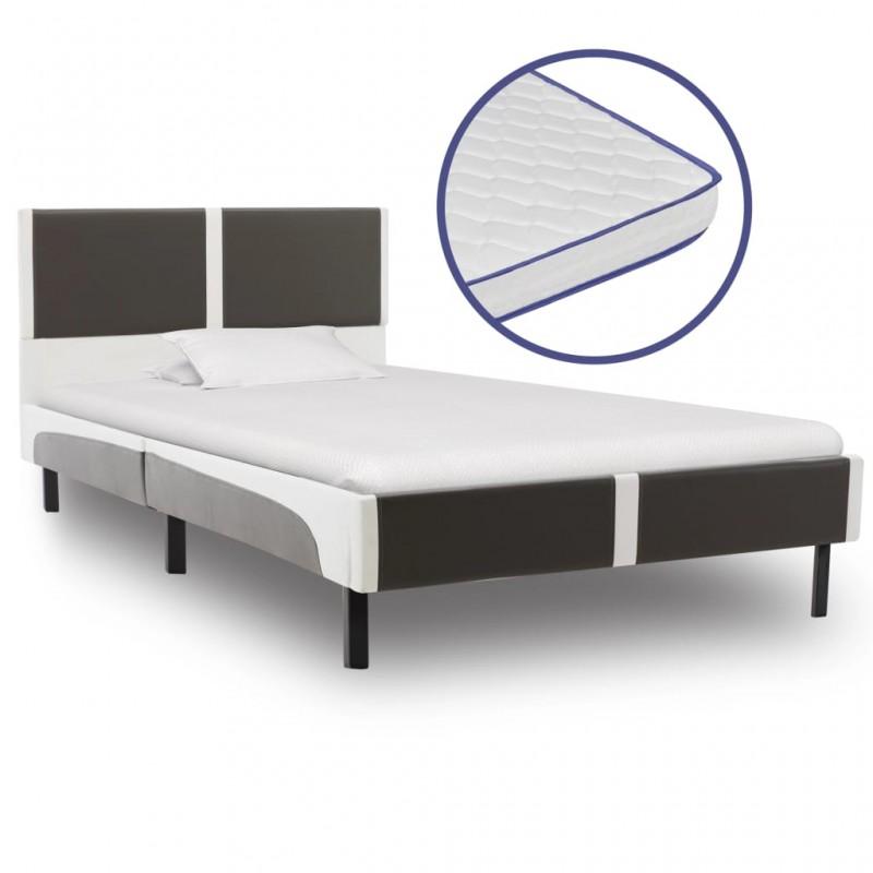 vidaXL Mueble de lavabo con espejo de madera maciza de nogal