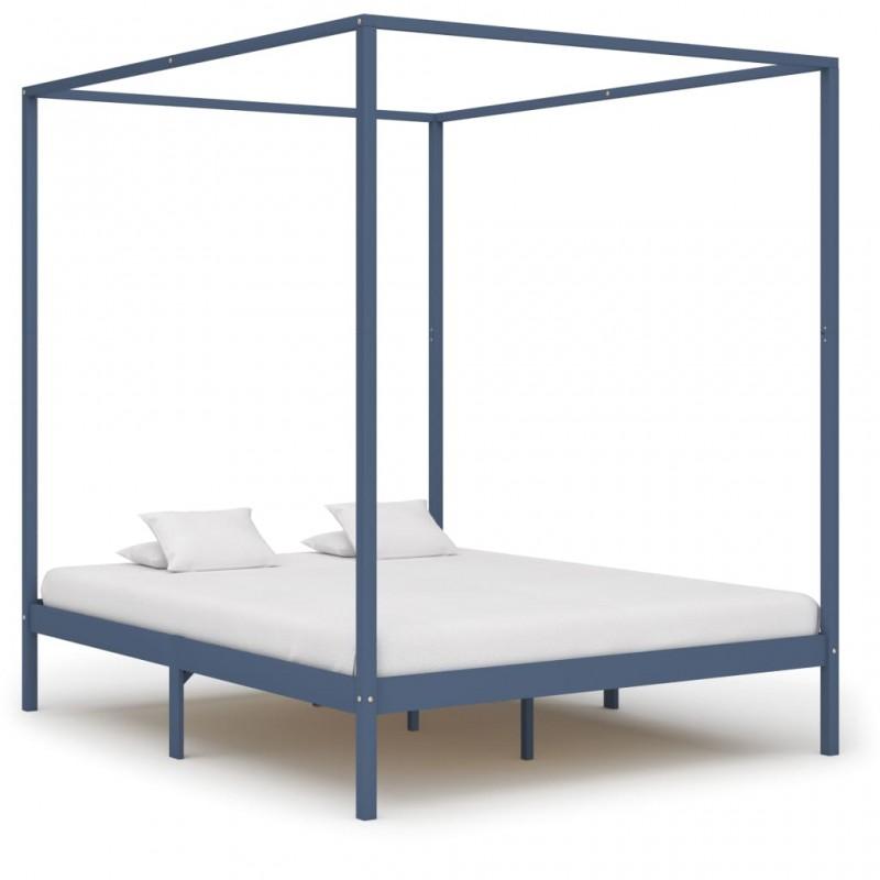 vidaXL Sillas de jardín plegables 4 unidades de bambú
