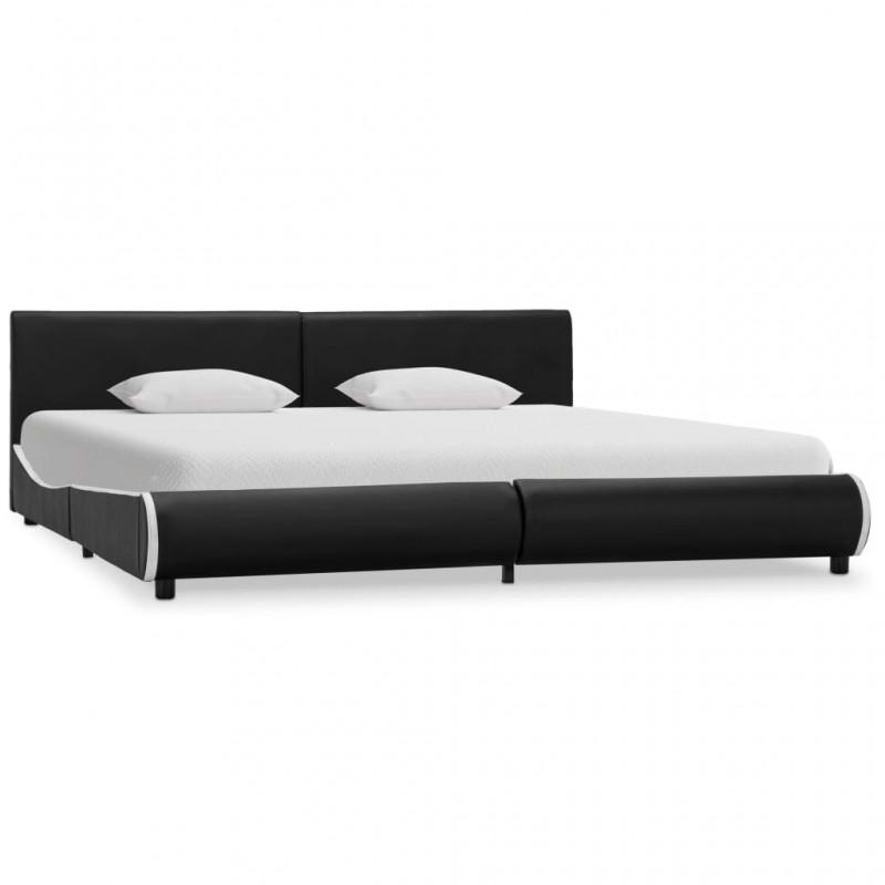 vidaXL Estructura de cama y 2 mesitas de noche acacia+acero 140x200 cm