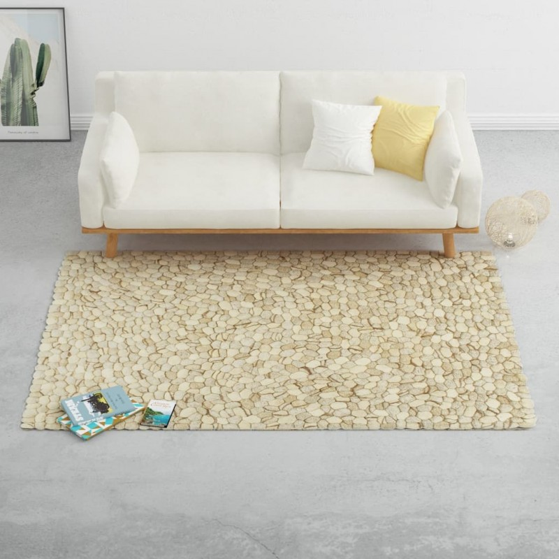 vidaXL Set de sofás jardín de palés 4 pzas y cojines arena madera