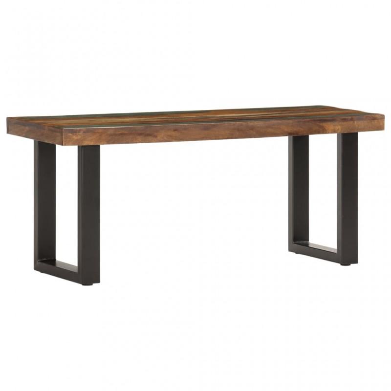 vidaXL Mesa de jardín con gaviones acero y madera pino 180x90x74cm