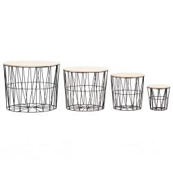 vidaXL Placa de peso para sombrilla 4 uds granito gris triangular 60kg