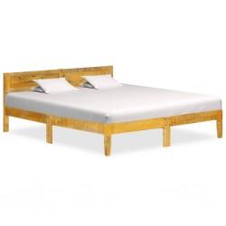 vidaXL Cama con colchón viscoelástico tela gris oscuro 120x200 cm