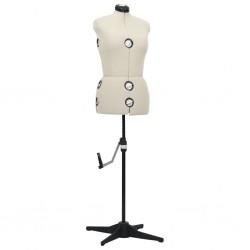 vidaXL Cama con colchón viscoelástico tela beige 90x200 cm