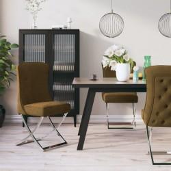 vidaXL Tumbonas mecedoras 2 unidades madera maciza de acacia