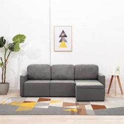 vidaXL Cama con colchón tela marrón 160x200 cm