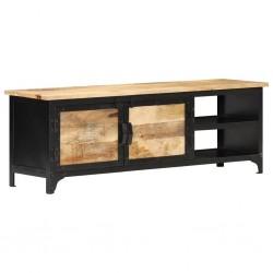 vidaXL Sofá de palés de jardín de 2 plazas madera negro
