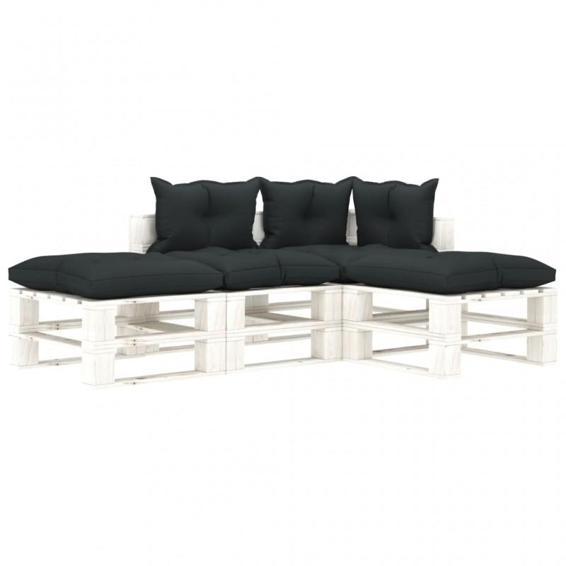 vidaXL Soporte para apilar leña 8 piezas acero plateado