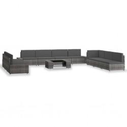 vidaXL Fundas para muebles de jardín 2 uds 8 ojales 135x135x90 cm