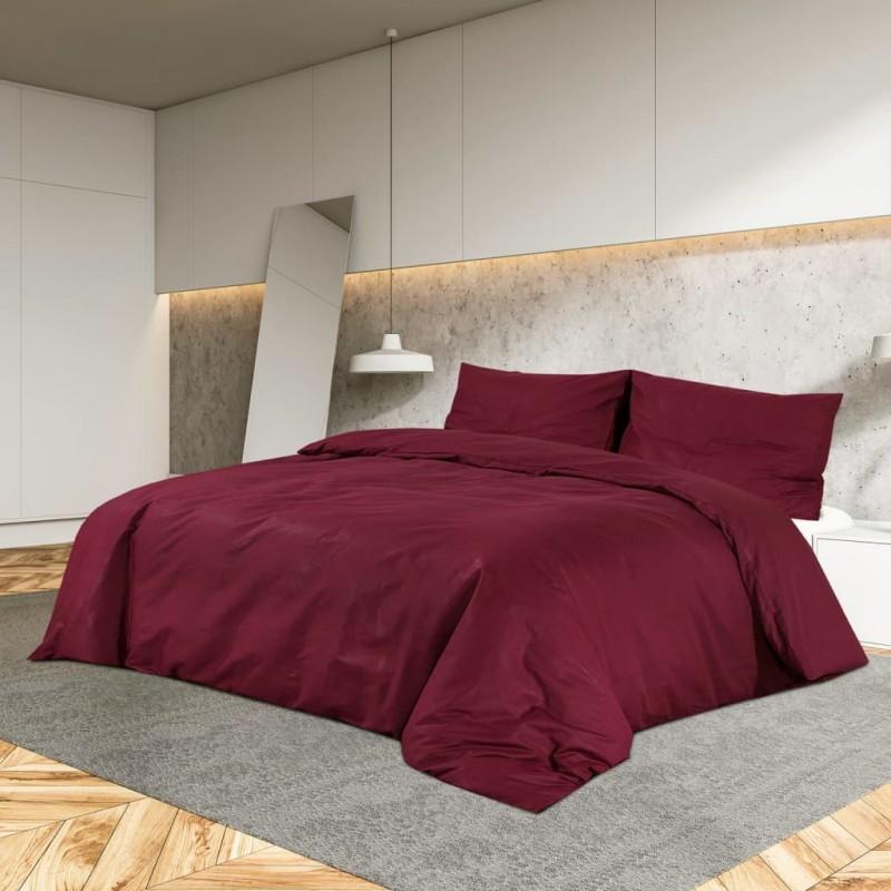 vidaXL Conjunto de alfombrillas de baño de tela 3 piezas gris