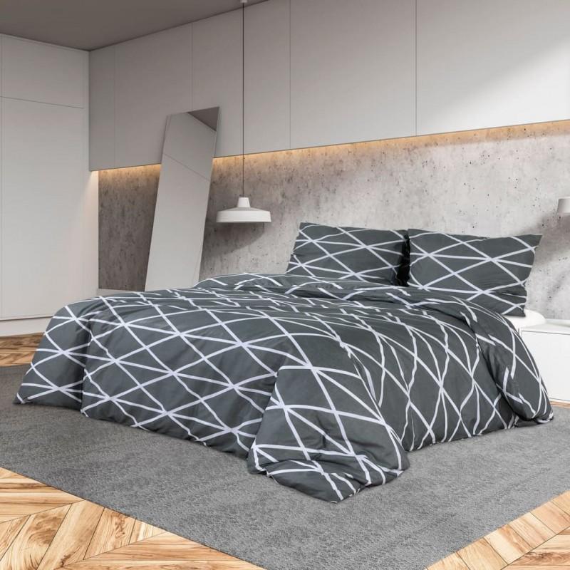 vidaXL Conjunto de alfombrillas de baño de tela 2 piezas blanco