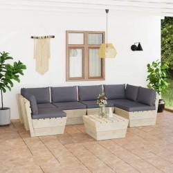 vidaXL Cojines de sillas 2 uds piel de oveja auténtica marrón 40x40 cm