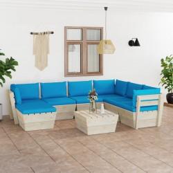 vidaXL Espejo de troncos de madera maciza reciclada blanca 70x70 cm