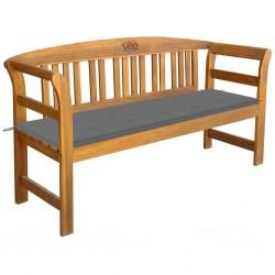 vidaXL Estructura de cama con dosel metal gris 140x200 cm