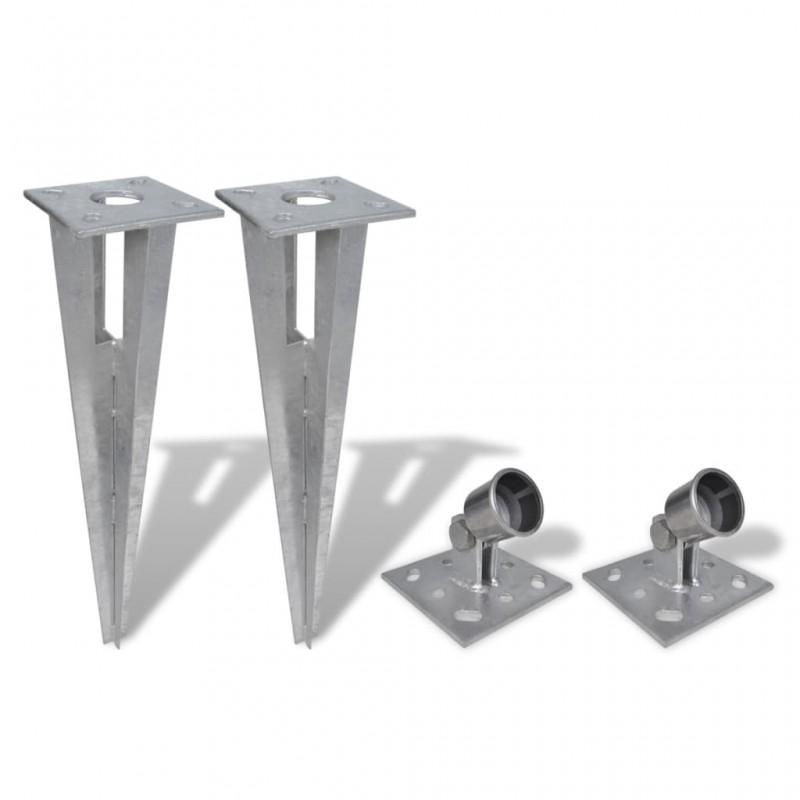 vidaXL Manta de algodón verde oscuro 125x150 cm