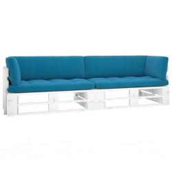 vidaXL Cama canapé hidráulica con LED cuero sintético blanco 90x200 cm