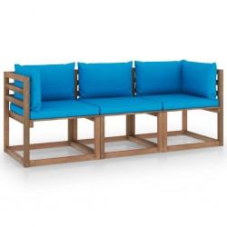 vidaXL Estructura de cama con LED cuero sintético blanco 160x200 cm