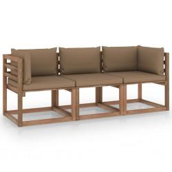 vidaXL Estructura de cama con LED cuero sintético gris 120x200 cm