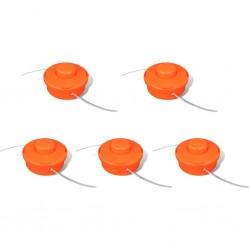 vidaXL Mantel individual 6 unidades liso redondo yute gris 38 cm