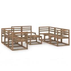 vidaXL Caballetes plegables 2 unidades madera de pino