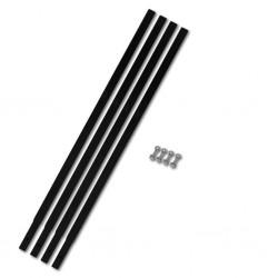 vidaXL Mantel individual 6 unidades liso redondo algodón verde 38 cm