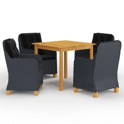 vidaXL Encimera para armario tocador madera maciza acacia 120x55x3,8cm