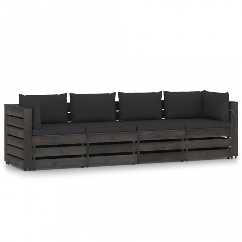 vidaXL Conjunto de cestas apilables 3 unidades de sauce blanco