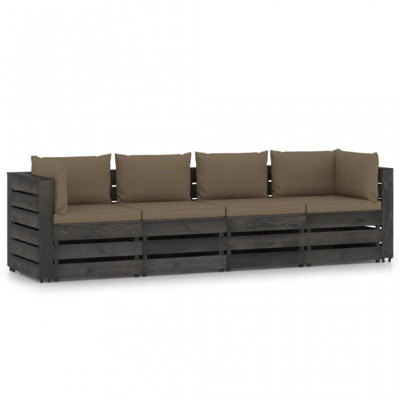 vidaXL Conjunto de cestas apilables 3 unidades de sauce marrón