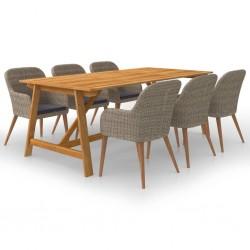 vidaXL Espejos 3 unidades mimbre blanco 15x15 cm