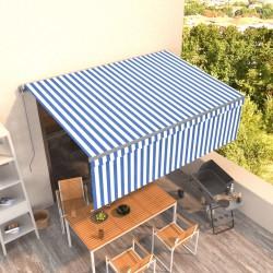 vidaXL Papel de limpieza industrial 2 capas 2 rollos azul 20 cm