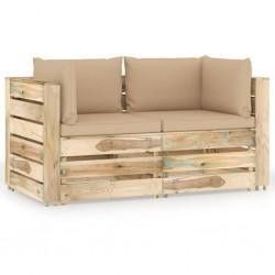 vidaXL Espejos de pared cuadrados 2 unidades vidrio 50x50 cm