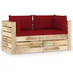 vidaXL Espejos de pared redondos 2 unidades vidrio 60 cm