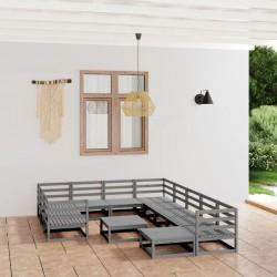 vidaXL Sillas de jardín 2 uds madera de pino impregnada 89x76x76 cm
