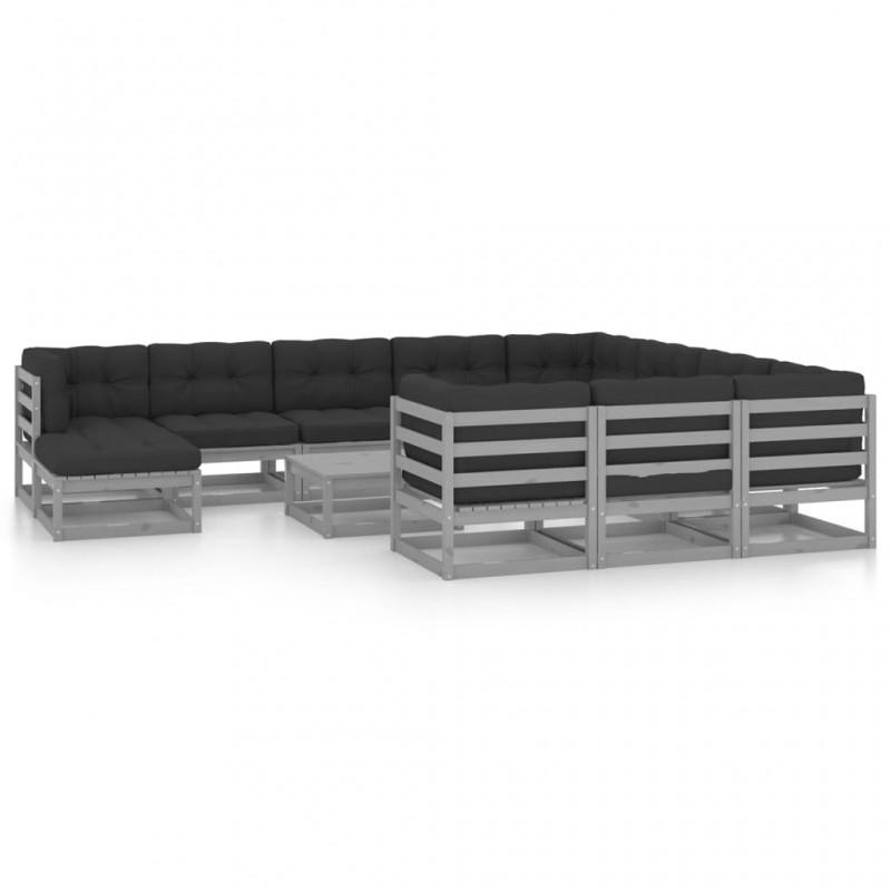 vidaXL Tumbonas con cojines 2 unidades madera maciza de teca rojo