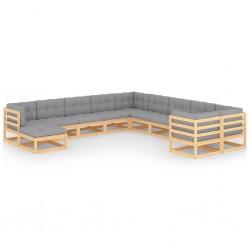 vidaXL Caja de palés 3 unidades madera maciza de pino 60x80 cm