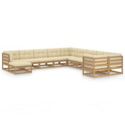 vidaXL Caja de palés de madera maciza de pino 50x100 cm