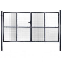 vidaXL Valla de tela metálica acero galvanizado verde 0,8x15 m