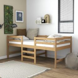 vidaXL Mesa de jardín madera maciza de acacia 120x70x75 cm