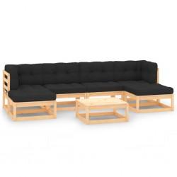 vidaXL Caseta cabaña de jardín de madera de pino impregnada 1,5x2 m
