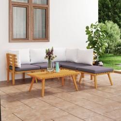 Esschert Design Alfombra de exterior 151,5 cm blanco y azul OC23