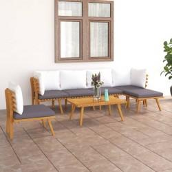 Esschert Design Alfombra de exterior 180x121 cm gris y blanco OC24