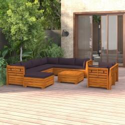 vidaXL Cobertizo para contenedor de basura de madera impregnada 240 L
