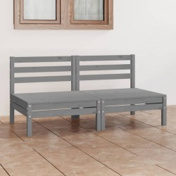 vidaXL Caseta de jardín de metal 257x205x178 cm gris