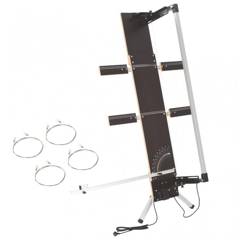 vidaXL Cerca para césped de hierro recubierto en polvo 25x0,65 m